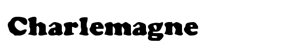 Charlemagne font preview