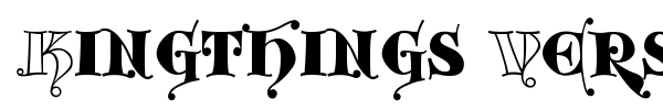 Kingthings Versalis font