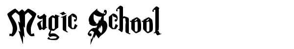 Magic School font