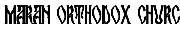 Maran Orthodox Church font