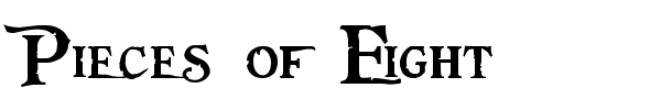 Pieces of Eight font