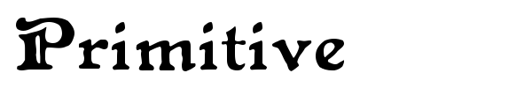 Primitive font preview