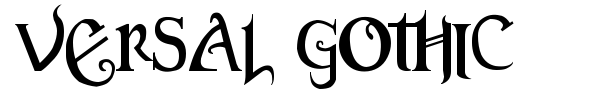 Versal Gothic font preview