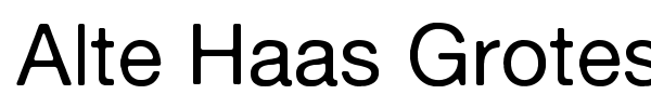 Alte Haas Grotesk font preview