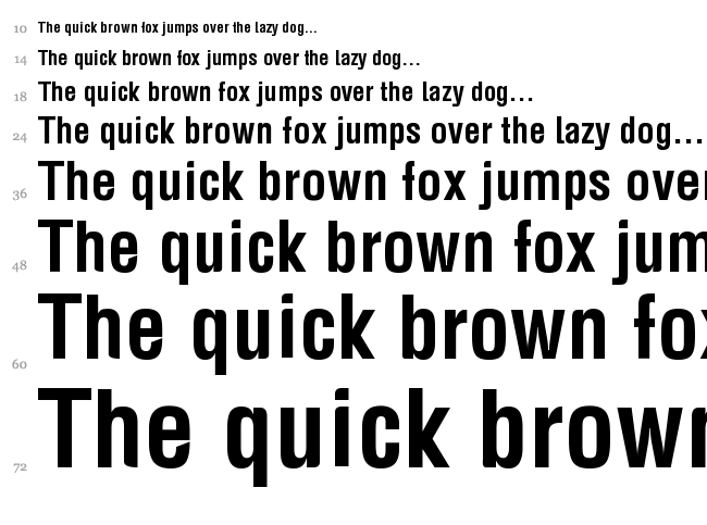 BDP Fox font waterfall