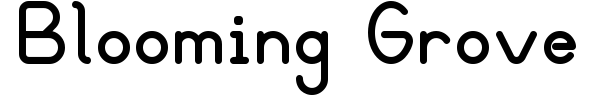 Blooming Grove font