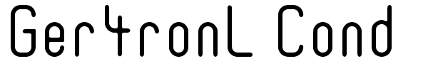 Ger4ronL Cond font preview