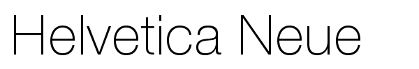 Helvetica Neue font preview