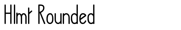 Hlmt Rounded font