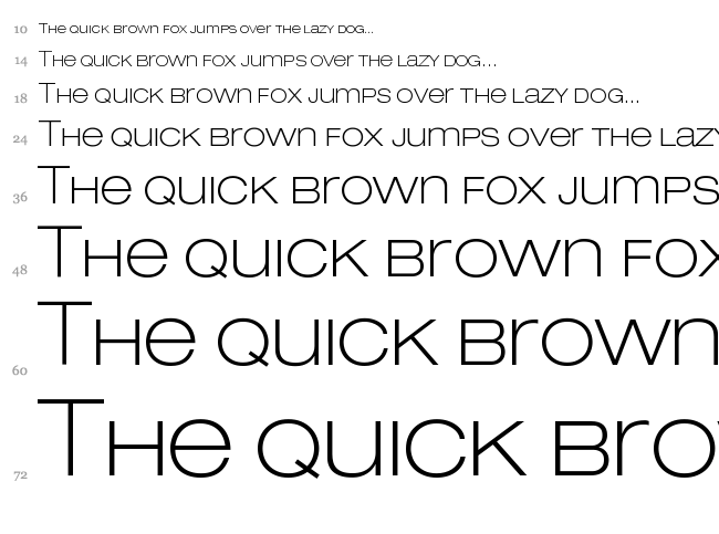 Lowvetica font waterfall