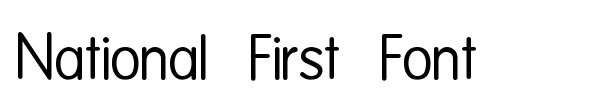 National First Font font preview