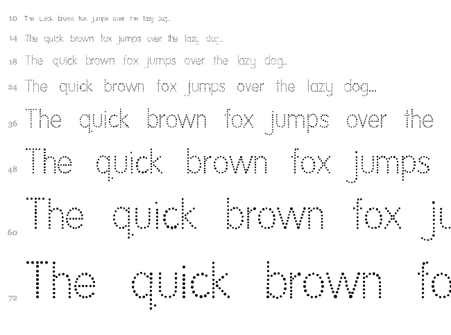 National First Font font waterfall