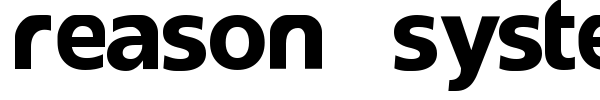 Reason System font