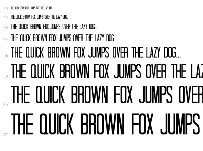 Tall Dark And Handsome font waterfall