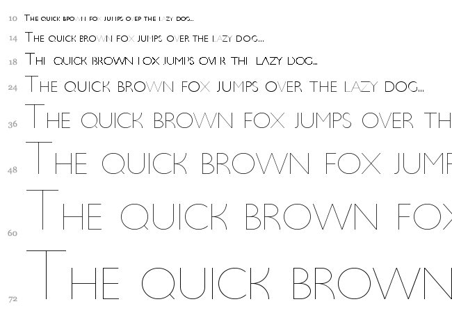 Ultima font waterfall