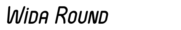 Wida Round font preview