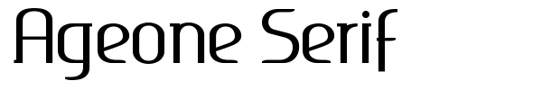 Ageone Serif font preview