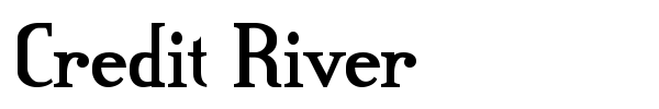 Credit River font preview