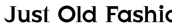 Just Old Fashion font