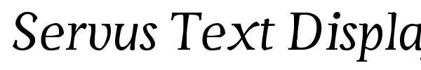 Servus Text Display font