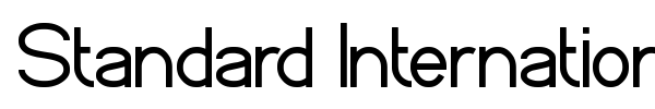Standard International font