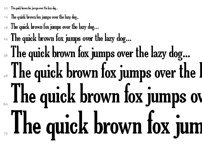 TheReconLegendFont font waterfall