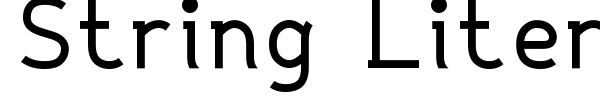 String Literal + Variable font
