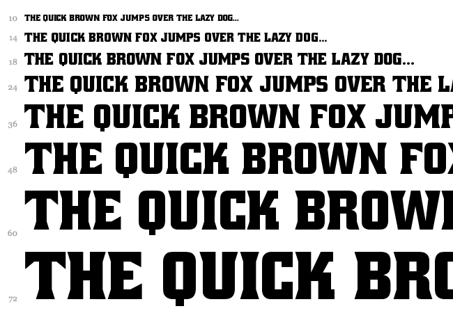 Alley Oop font waterfall