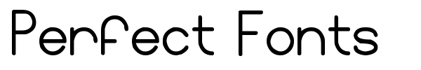 Perfect Fonts font