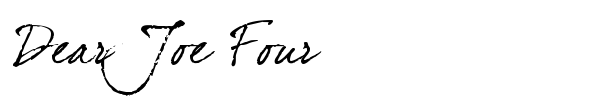 Dear Joe Four font