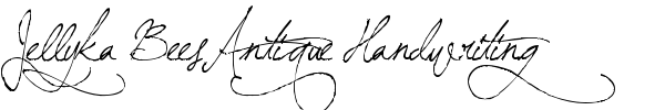 Jellyka BeesAntique Handwriting font preview
