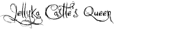 Jellyka Castle's Queen font preview