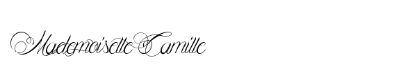Mademoiselle Camille font
