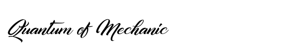 Quantum of Mechanic font