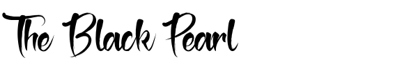 The Black Pearl font