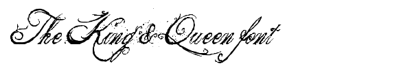 The King & Queen font font