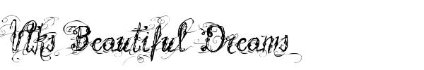 Vtks Beautiful Dreams font