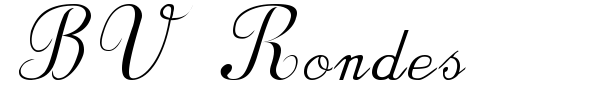 BV Rondes font preview