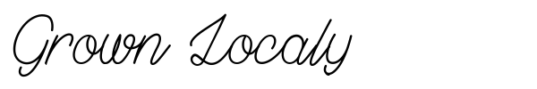 Grown Localy font preview