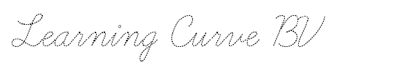 Learning Curve BV font