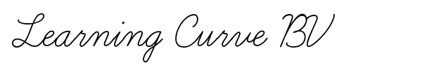 Learning Curve BV font preview