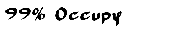 99% Occupy font