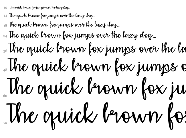 Affectionately Yours font waterfall