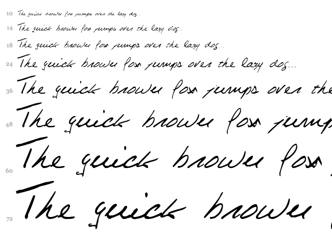 Celine Dion Handwriting font waterfall