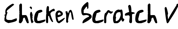 Chicken Scratch V1 font