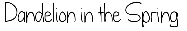 Dandelion in the Spring font