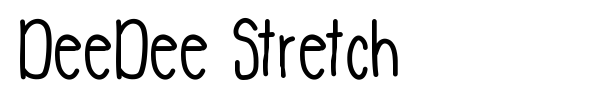 DeeDee Stretch font