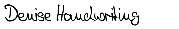 Denise Handwriting font preview