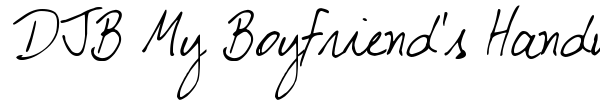 DJB My Boyfriend's Handwriting font