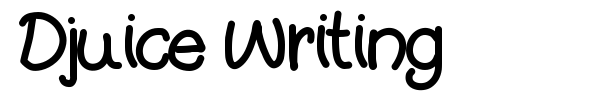Djuice Writing font